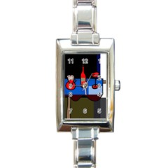 Table Rectangle Italian Charm Watch