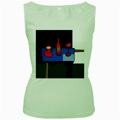 Table Women s Green Tank Top