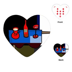 Table Playing Cards (Heart)