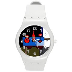 Table Round Plastic Sport Watch (M)