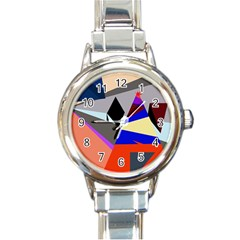 Geometrical abstract design Round Italian Charm Watch