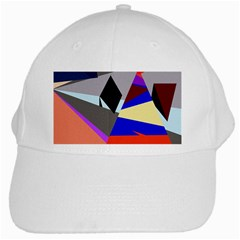 Geometrical abstract design White Cap