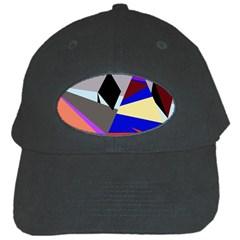 Geometrical abstract design Black Cap