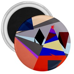 Geometrical abstract design 3  Magnets