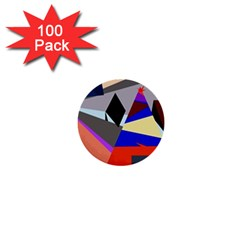 Geometrical abstract design 1  Mini Buttons (100 pack)