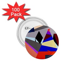 Geometrical abstract design 1.75  Buttons (100 pack)
