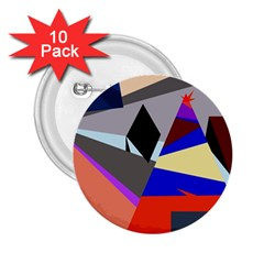 Geometrical abstract design 2.25  Buttons (10 pack)