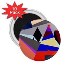 Geometrical abstract design 2.25  Magnets (10 pack)