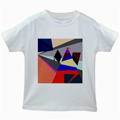 Geometrical abstract design Kids White T-Shirts