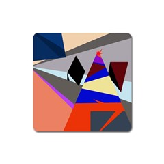 Geometrical abstract design Square Magnet