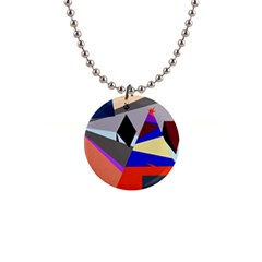 Geometrical abstract design Button Necklaces