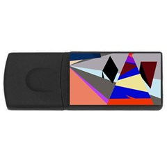 Geometrical abstract design USB Flash Drive Rectangular (4 GB)