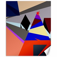 Geometrical abstract design Canvas 16  x 20