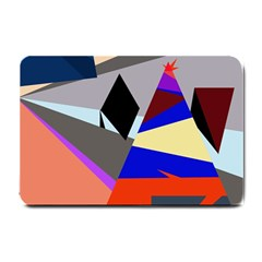 Geometrical abstract design Small Doormat