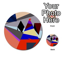 Geometrical abstract design Multi-purpose Cards (Round)