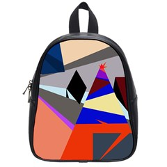 Geometrical abstract design School Bags (Small)