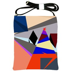 Geometrical abstract design Shoulder Sling Bags