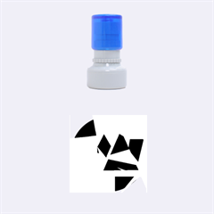 Geometrical abstract design Rubber Round Stamps (Small)