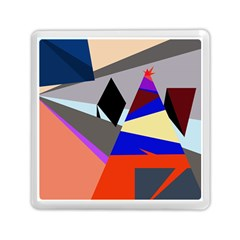 Geometrical abstract design Memory Card Reader (Square)