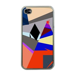 Geometrical abstract design Apple iPhone 4 Case (Clear)