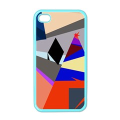 Geometrical abstract design Apple iPhone 4 Case (Color)