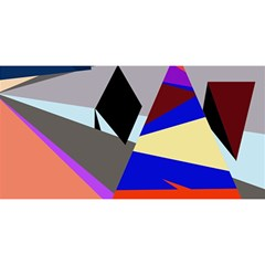 Geometrical abstract design YOU ARE INVITED 3D Greeting Card (8x4)