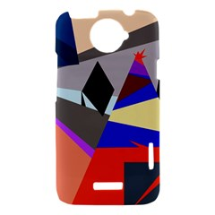Geometrical abstract design HTC One X Hardshell Case