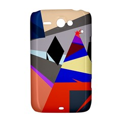 Geometrical abstract design HTC ChaCha / HTC Status Hardshell Case