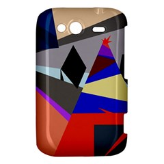 Geometrical abstract design HTC Wildfire S A510e Hardshell Case