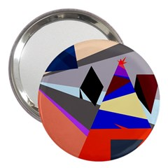 Geometrical abstract design 3  Handbag Mirrors