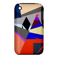 Geometrical abstract design Apple iPhone 3G/3GS Hardshell Case (PC+Silicone)