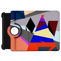 Geometrical abstract design Kindle Fire HD Flip 360 Case