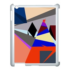 Geometrical abstract design Apple iPad 3/4 Case (White)