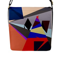 Geometrical abstract design Flap Messenger Bag (L)