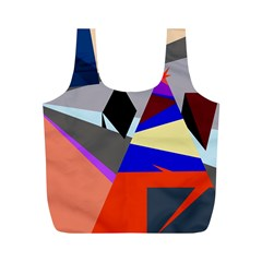 Geometrical abstract design Full Print Recycle Bags (M)