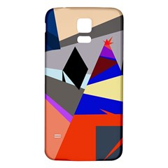 Geometrical abstract design Samsung Galaxy S5 Back Case (White)