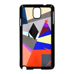 Geometrical abstract design Samsung Galaxy Note 3 Neo Hardshell Case (Black)
