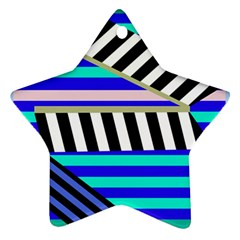 Blue lines decor Ornament (Star)