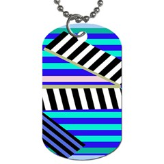 Blue lines decor Dog Tag (Two Sides)