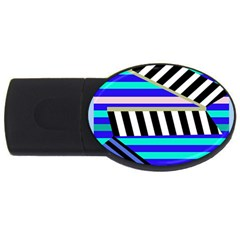 Blue lines decor USB Flash Drive Oval (1 GB)