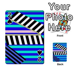 Blue Lines Decor Playing Cards 54 Designs
