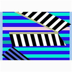 Blue lines decor Collage Prints