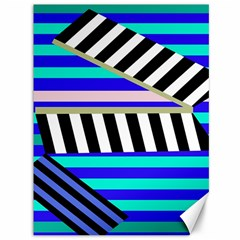 Blue lines decor Canvas 36  x 48