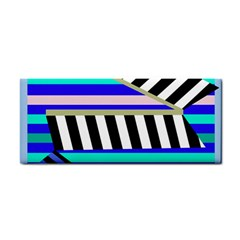 Blue Lines Decor Hand Towel