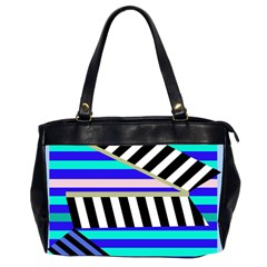 Blue lines decor Office Handbags (2 Sides)