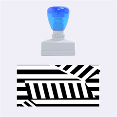 Blue lines decor Rubber Stamps (Medium)