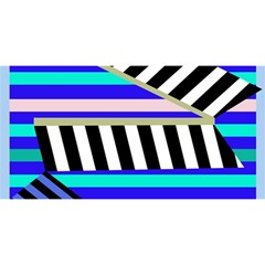 Blue lines decor YOU ARE INVITED 3D Greeting Card (8x4)