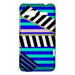 Blue lines decor HTC Radar Hardshell Case