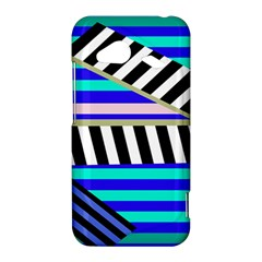Blue lines decor HTC Droid Incredible 4G LTE Hardshell Case