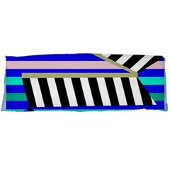 Blue lines decor Body Pillow Case (Dakimakura)